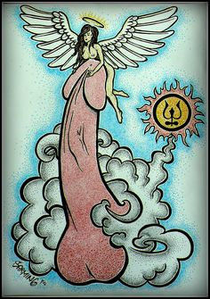 How many angels can dance on the head of a pin? :-D art by Šarming