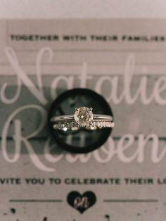 Love these white gold wedding rings - so classy. | An Elegant Wedding With Fun Details via @weddingbellsmag