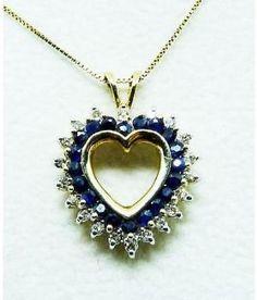 Sapphire & Diamond Heart Pendant On Chain by french_violet Sapphire Pendant, Sapphire Diamond, Diamond Clarity, Diamond Heart, Gold Pendant, Blue Sapphire, Colored Diamonds, Fine Jewelry, Gems