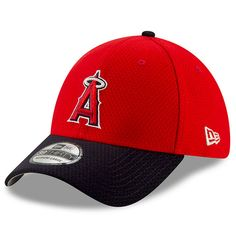 9e62160943f Youth Los Angeles Angels New Era Red Navy 2019 Batting Practice 39THIRTY  Flex Hat