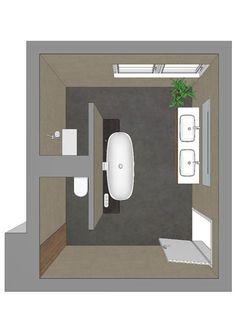 Badezimmerplanung mit T-Lösung