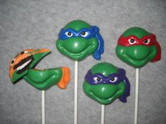 1 chocolate oreo head TMNT teenage mutant ninja turtle | sapphirechocolates - Edibles on ArtFire lollipops. castlerockchocolates@yahoo.com 307/899-7100 text any hour www.sapphirechocolates.artfire.com and http://www.stores.ebay.com/Castle-Rock-Chocolatier. made to ship 3 weeks after payment therefore please provide the following for a price quote especially if your event falls under the 3 week estimated arrival dates * event date * character * quantity * state * zip code * email address