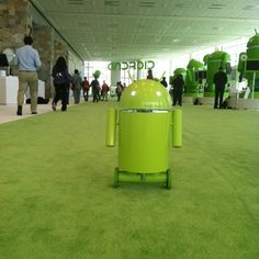 Android robot at Google IO. by Robert Scoble, via Flickr