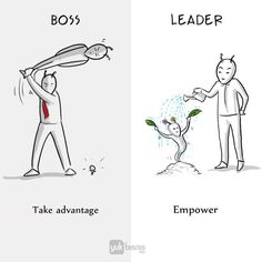 Artist Illustrates the Difference Between A Boss And A Leader In Just 8 Illustrations