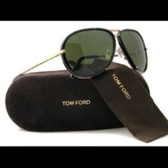Tom Ford Cyrille Aviators Black and Gold Tom Ford Cyrille Sunglasses Black and Gold Aviators ***has original box, case, cleaning cloth and authenticity card*** Worn once **** Tom Ford Accessories Sunglasses