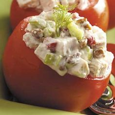 Chicken Salad in Tomato Cups