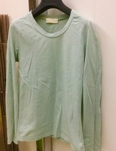 MCR green long-sleeve round-neck cotton top, L