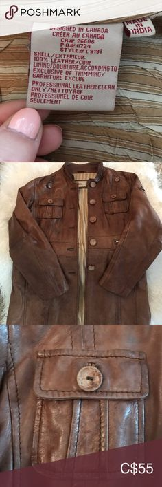 Beautiful leather jacket In perfect condition, large but fit medium. Perfect for fall! Fall Jackets, Jackets For Women, Leather Cleaning, Shop My, Leather Jacket, Coats, Medium, Fit, Closet