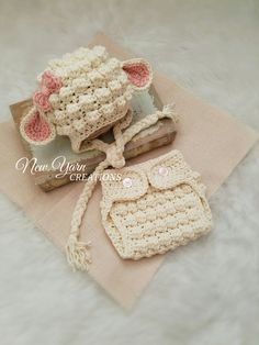 Crochet Lamb Hat Crochet Lamb Diaper Cover and by NewYarnCreations