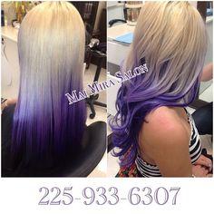 blonde/purple hair♥