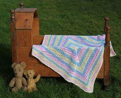 Vintage soft pastel baby blanket