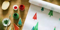 Fabriquer son papier cadeau avec des tampons