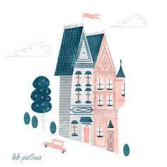 Victorians | Illustrator: Lab Partners #sanfrancisco