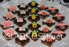 Kakaové čtverečky s krémem
