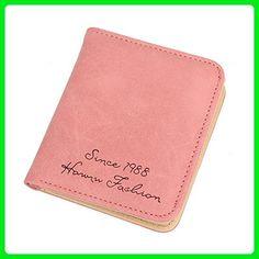 Jocestyle Women Teenage Girls Fashion Mini Purse Wallet with Card Slots and ID / Photo Window (05 Pink) - Wallets (*Amazon Partner-Link)
