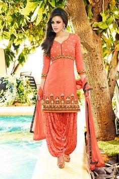 Startling Designer Party Wear Patiala Salwar Suit -$34