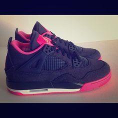 Air Jordan 4 IV Retro GG Denim Dark Obsidian Pink Air Jordan 4 IV Retro GG Denim Dark Obsidian Pink brand new size 7y Air jordan Shoes Sneakers