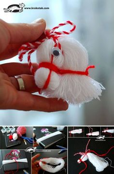 DIY-Pferdekopf-Verzierung vom Thread - My most creative diy and craft list Christmas Ornament Crafts, Holiday Crafts, Christmas Crafts, Snowman Ornaments, Merry Christmas, Christmas Decorations, Kids Crafts, Diy And Crafts, Pom Pom Crafts