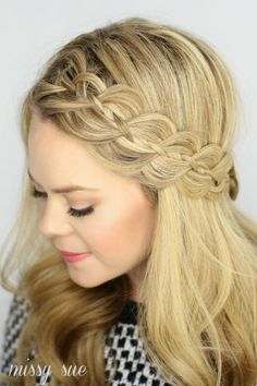 These soft curls and playful braid are ideal for the boho beauties looking to turn heads. #Prom #Hairstyles