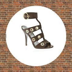 """SALEHP 9/28! Jessica Simpson Warria  9.5 Jessica Simpson Warria  Sassy brown heels with ankle strap and gold detail. Heel is 4"""" Leather upper. NEW WITHOUT BOX Jessica Simpson Shoes"""