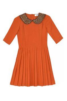 To Be Adored Burnt Orange Amelie Dress