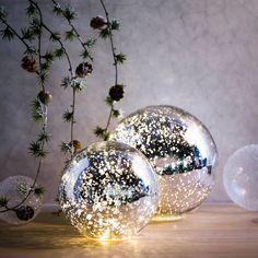 Lichtobjekt+Kugel,+LED,+D:20cm,+silber,+silber