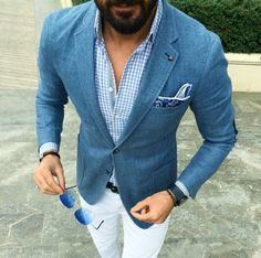 Blue blazer and Chinos