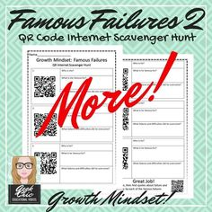 A fun, thought-provoking internet scavenger hunt using QR codes.Perfect in front of a computer, or on a mobile device/tablet! The student scans the QR codes one by one, leading to a Youtube video/webpage with short biographies and fun facts