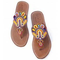 beaded sandals galore