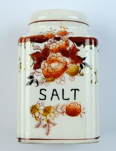 Vintage Large Salt Shaker Made in Japan Orange by PlumsandHoney, $12.00