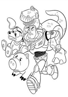 Toy Story - 1 / 2 / 3 / 4 - 23 Coloring Pages / Party games ...