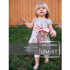 Hey, I found this really awesome Etsy listing at https://www.etsy.com/listing/62600782/perfect-little-party-dress-pattern-and