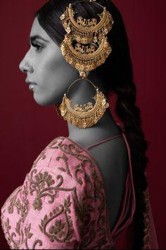 Jhoomar - Gold Plated Jhoomar by Purab Paschim | WedMeGood #wedmegood #indianbride #indianwedding #bridaljewelry #indianweddingjewelry #jhoomar #goldjewelry