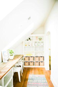 craft space; kids'' work area
