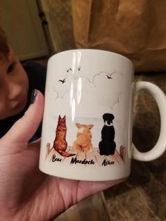 Personalized Dog Mug (Print On Both Sides) - 2250 – Unifury Dog Mom Gifts, Dog Lover Gifts, Dog Lovers, Patterdale Terrier, Dog Coffee, Mug Printing, Cool Mugs, Personalized Mugs, Meaningful Gifts