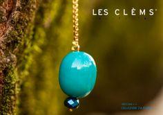 LesClèms  collection p/e  2014 Zia Flora Orecchino | earring Muschio azzurro  #lesclems #collection #earring #unique #bachelite #madeinitaly #bijoux #jewel #gold #color #flower #spring #milano #storyteller