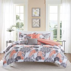 Intelligent Design Lily Coral Comforter Set   Overstock.com Shopping - The Best Deals on Teen Comforter Sets