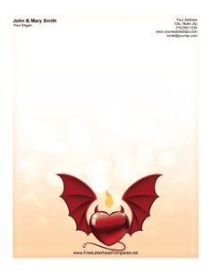 Masterpiece Studios 972527 Red Hearts Letterhead  Valentines Day