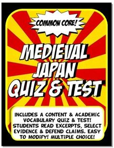 These assessments are Common Core, editable and multiple choice!The 15 question quiz is content vocabulary and academic vocabulary based. Students define content terms and infer word meaning from the text.The 30 question test is divided into three parts:* Part I has students match key content to the bid ideas for social science (geography, economy, government, achievements, social classes and religion). * Part II, Inferring from the Text (Common Core Literacy) We  pulled from rich text and…