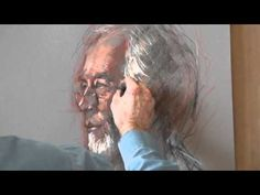 Pastel Portrait Profile Painted from Life by Rob Wareing