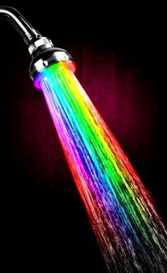 Rainbow colors de l arc-en-ciel Toni Kami Colorful shower head light Love Rainbow, Taste The Rainbow, Over The Rainbow, Rainbow Colors, Rainbow Stuff, Rainbow Water, Rainbow Pride, Happy Colors, True Colors