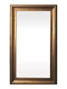 Spiegel - Marieke- antiek goud - buitenmaten breed 84 cm x hoog 114 cm.