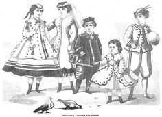 Late Victorian Era Children's Fashions - March 1866 Peterson's Magazine  Résultats Google Recherche dimages correspondant à http://4.bp.blogspot.com/-o7p3R_ba1Ys/ThJfBe4KLZI/AAAAAAAAAQw/cjqBoib8FpY/s1600/1866-03%252Bpetersons%252Bchildren.jpg