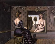 Paul Delvaux (1897-1994) - The Mirror