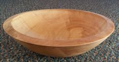 Rippled sycamore bowl from lesson with Dave Lowe at Snainton Woodworking