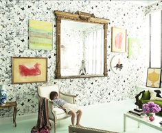 schumacher birds and butterflies | wanted the loft to feel like an eccentrically fab grandmother had ...