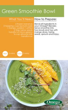 9 Days of Green Smoothies Recipe 6 - Green Smoothie Bowl with Omega Juicers!