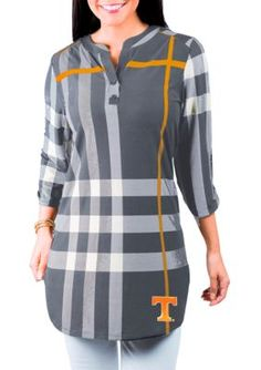 Gameday Couture Girls' Tennessee Volunteers Plaid But True Tunic - Orange - Xl