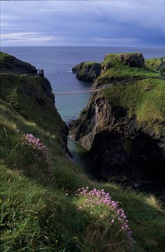 Carrick-a-Rede Rope Bridge, County Antrim, Northern Ireland, by Brian W. Skyum