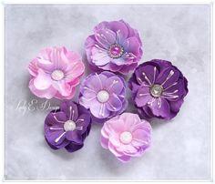 Scrap Art by Lady E: Romantic in Pink & New Flowers / Romantycznie różowo i nowe kwiatki